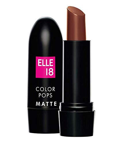 Elle 18 Color Pops Matte Lip Color -B43, Belgian Brown 4.3g