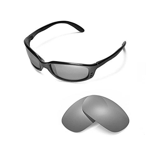 Walleva Ersatzgläser für Costa Del Mar Brine Sonnenbrille - Mehrfache Optionen (Titan Mirror Coated - Polarisiert)