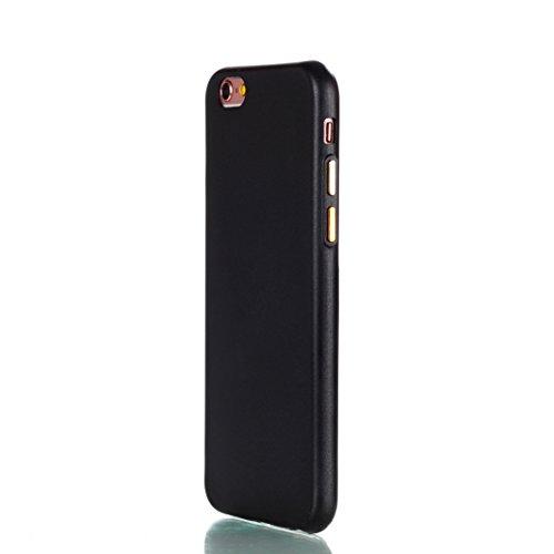 iPhone 6 PLUS/6S PLUS Hülle OuDu UV-härtendes Silikon Schutzhülle [Gefrostet Hülle] Transparente Flexibel Schlank Hülle **NEW** TPU Abdeckung Glatte Leichte Tasche Soft Silicone Case Cover Bumper Krat Schwarz