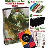 Dungeons Dragons Starter-Set 5. Edition - DND Starter Kit - Würfel in schwarzer Tasche - Fun DND Rolling Board Spiele Erwachsene Erwachsene Magic Board Game 5e Anfänger Pack Stanzbuch