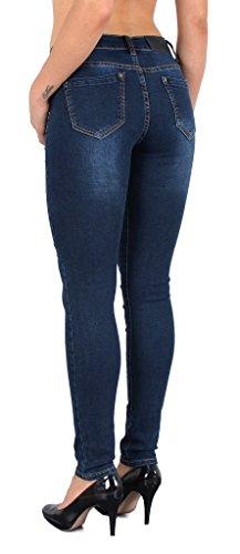 by-tex Jean femme skinny dechiré pantalon en jean destroyed look femme Jeans - grande taille .. 48, 50 #J312 J328