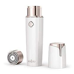 Damenrasierer Anjou Gesicht Haarentferner für Frauen IPX 6 Wasserdicht Elektrorasierer Damen für Lippen Kinn Wangen Wiederaufladbar