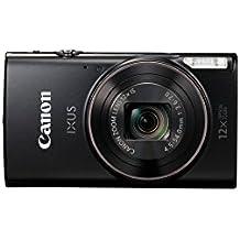 """Canon IXUS 285 HS - Cámara digital compacta de 20.2 Mp (pantalla de 3"""", zoom óptico de 12x, NFC, video Full HD, WiFi), color negro"""