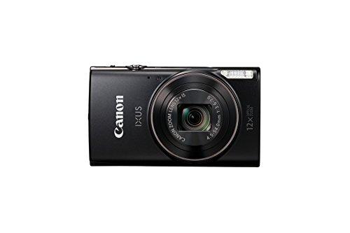 Canon 1076C001 Ixus 285 HS Kamera (20,2 Megapixel CMOS-Sensor 12fach optischer Zoom, Ultra-Weitwinkelobjektiv Full-HD-Movieaufnahmen) schwarz