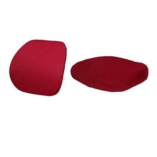 Baoblaze 2pcs sedia copertura copertina cover da sedile girevole protezione fodere coprisedia di elastico tessuto per hotel ufficio - rosso