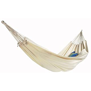 AMAZONAS AZ-1018140 Barbados natura hammock, load capacity 200kg, white (Natura), lying area 230 x 150cm, one size fits all