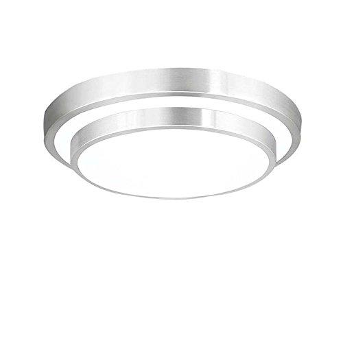 ZHMA 18W Plafonnier LED, 6000K Blanc, 1440 LM, Lampe de Plafond Imperméable IP44, Luminaire Intérieur, Eclairage Rond, Parfait pour Plafond de Salle de Bain, Cuisine, Couloir, Salon, 220V