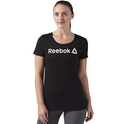 Reebok Linear Read Scoop Camiseta, Mujer