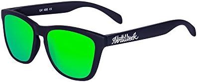 Northweek Regular Matte Black - Green Polarized - Gafas de sol unisex, negro