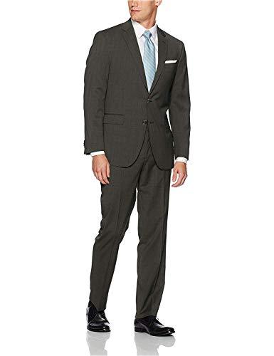 Adam Baker Herren Einreihiger 2-teiliger Anzug klassischer Slim-Fit 2 Knöpfe - - US 36S / EU 46S / Taille 30 - 36s Wolle