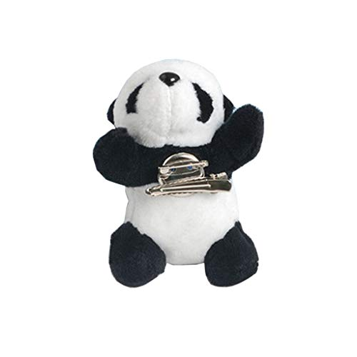 MEIKONG Niedlichen pelzigen Panda Brosche Bär Tier Haarnadel Dag Kleidung Schuhe Dekor Schmuck (Pelzigen Bären)