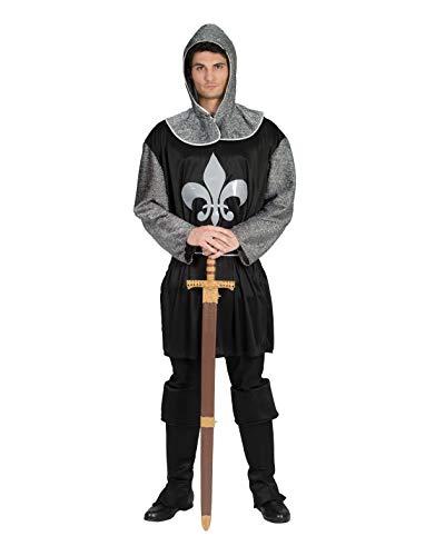 TrendClub100® Ritter Kostüm für Herren, Ritterkostüm Dark Knight Schwarzer Ritter (E, - Für Erwachsene Schwarze Ritter Kostüm