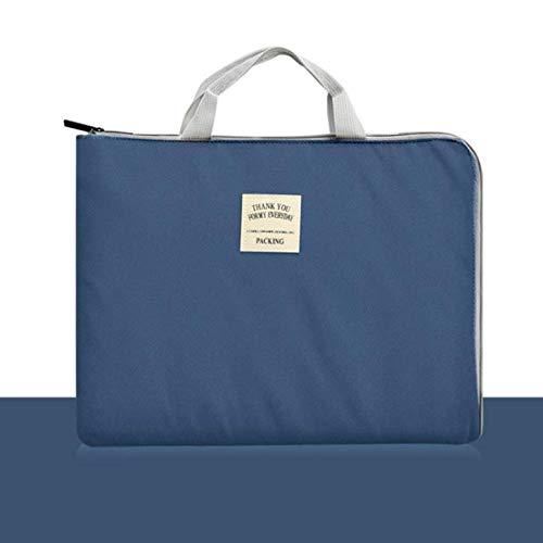 BOGEZ Laptoptasche 13.3 Zoll Nylon Aktentasche Tablet Wasserdicht Handtasche Business Notebook Schutz Tasche A4 Dokumententasche Marine Marine-elektronik-halterungen
