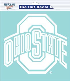 Caseys Distributing 3208525803 Ohio State Buckeyes Die-Cut Decal- 8 in. x 8 in. White