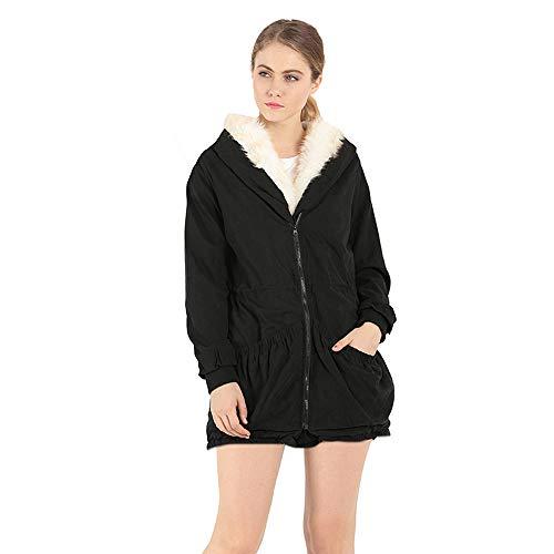 Zolimx Damen Sweatshirt Warme Dicke Winter Frauen parka Weibliche Outwear Kleidung für Mädchen - Frauen Mantel Peak