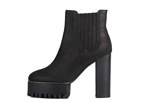 Jeffrey Campbell Vashon Boots-Bottine Latéral Élastique Noir Noir - Noir
