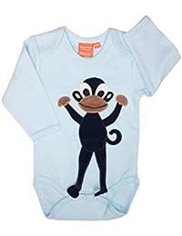 Lipfish Body Bebé de Manga Larga con Cuello Redondo y Aplique de Animales, Diseño Sueco, 100% Algodón.