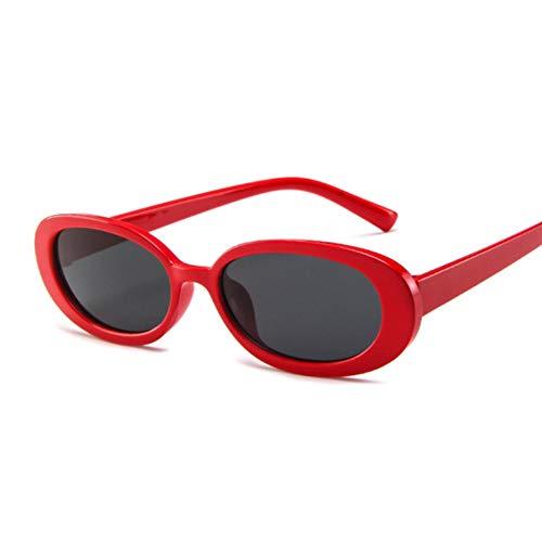 Wzpwwj Oval Damen Sonnenbrille Vintage Round Frame Weiß Schwarz Herren