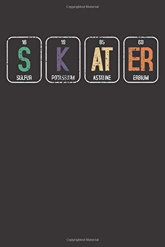 Notebook: Vintage Skateboard Skateboarding Skater Elements Funny Gift Dot Grid 6x9 120 Pages Journal
