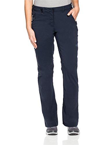 Jack Wolfskin Damen Activate Light Pants Women Hose, Midnight Blue, 46 (Elastische Schokolade Schuhe)