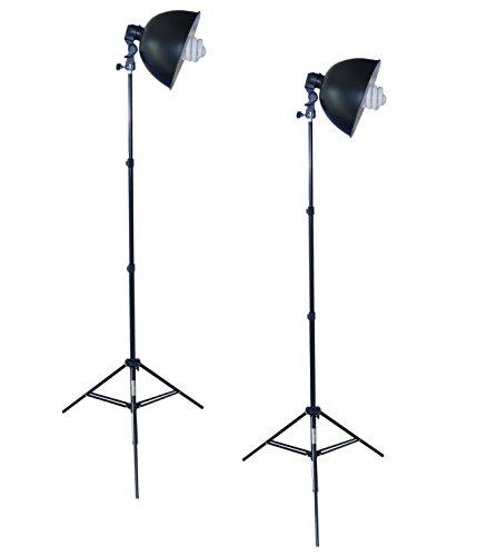 DynaSun Kit S27Kit 800W Illuminatore DayLight da Studio Professionale con Lampada 800W, Cavalletto Stativo, Portalampada, Riflettore