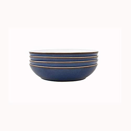 Denby Imperial Blue 4 Piece Pasta Bowl Set, Stone, 9.5 x 23 x 23 cm