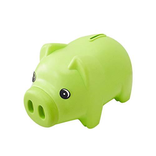 MYEDO Portable Home Decoration Saving Cash Coin Money Box Kids Child Piggy Bank (Green) Green