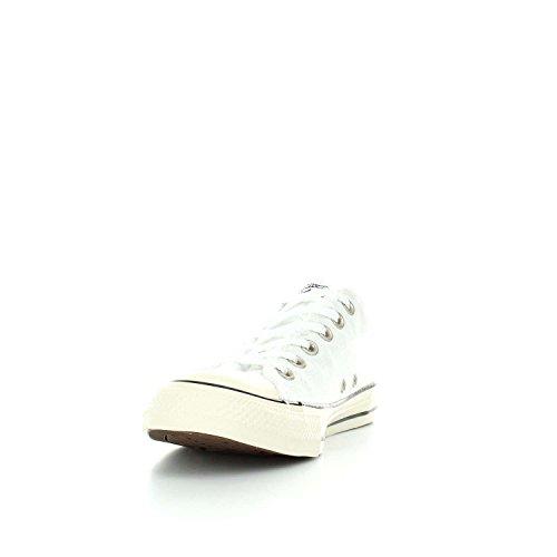 Converse Baskets Basses de Femmes Ctas Ox 160946C WHITE-MARSHMALLOW-NAVY