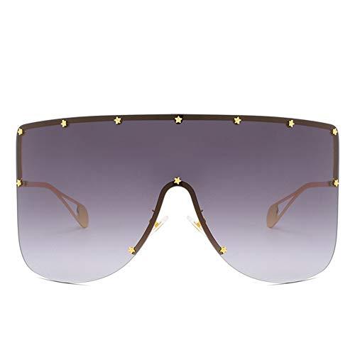 Sxuefang Sonnenbrillen Sonnenbrille Vintage Schild Visier Maske Sonnenbrille Frauen Männer Übergroßen Winddicht Brillengestell Brille