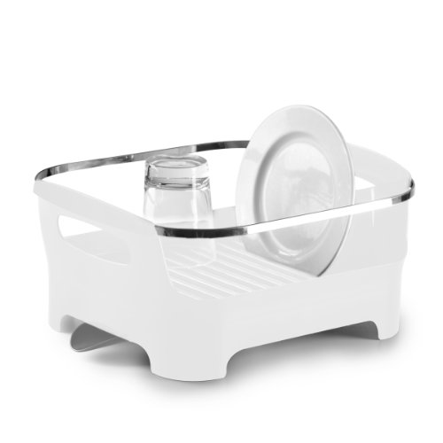 Umbra 330591-660 Basin Dish Rack, white Spülbecken Utensil Caddy