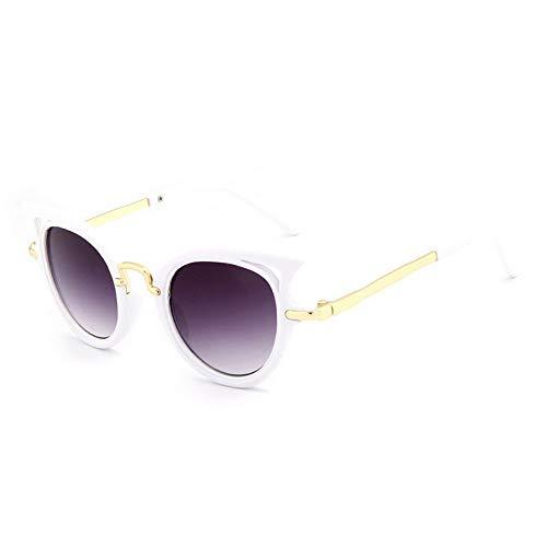 MJDABAOFA Sonnenbrillen Cat Eye Kinder Sonnenbrillen Sonnenbrille Mädchen Jungen Outdoor Sicherheit Weiß Brillengestelle Niedliche Kinder Brillen Uv400