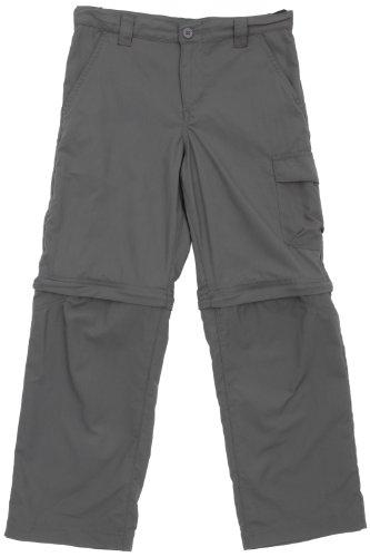 Columbia Silver Ridge - Pantaloni con parte inferiore della gamba staccabile, da ragazzo, grigio (Grill), L - Grill Panno