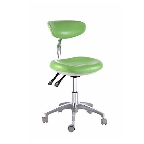 Dental Office-stühle (dentallabore Mobile Medical Stuhl Doctor 's Hocker mit Rückenlehne PU Leder AD600–1 New)