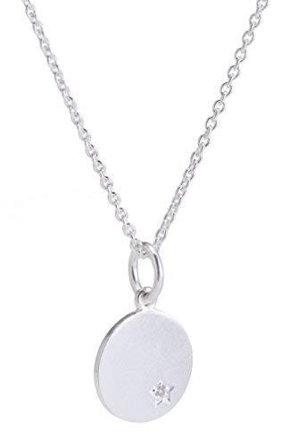 Pernille Corydon Schmuck Sale - 50{867edef7e380715213165fd314d59dc9690c1c628ea93e07b88abe52d4d4043a} reduziert Damen Halskette echter Diamant 0,01 ct runder Kreis Anhänger 925er Silber - N941s