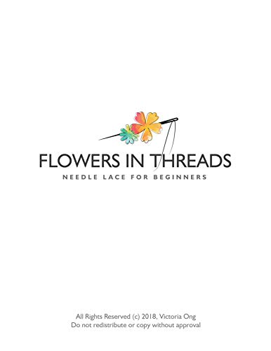 Flowers in Threads: Needle Lace for Beginners (Vol 1) (English Edition)