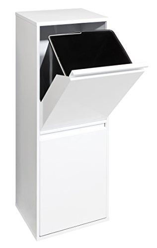 Arregui Basic Cubo de Reciclaje de Acero con 2 Compartimentos, Blanco