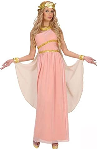 Aphrodite Göttin Damen-Kostüm Antike rosa-weiss-gold S (Götter Göttinnen Kostüme)