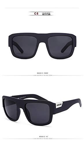 WWVAVA Sonnenbrillen Oversized Square Polarized Sunglasses Men'sBrand Original design Sports style Sun Glasses Male Driving Travel Shades,c2