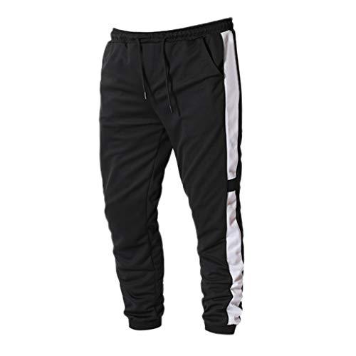 dd40c5a858 MOTOCO Herren Sportswear Hose Herren Sport und Fitness Retro Laufen Lässige  Sporthose Streifen(L,