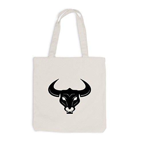 Jutebeutel - Stierkopf - Bull - Design Style Beige