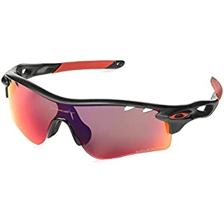 Oakley Herren Sonnenbrille Radarlock Path, Matte Ink/Oo Red Iridium Polarized Vented/Black Iridium Vented, M, OO9181-23