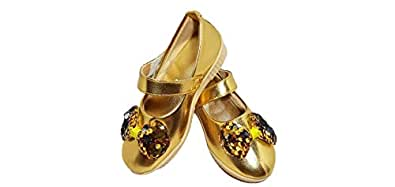 FOOTONREST Latest Collection, Comfortable & Fashionable Belly for Kids and Girls 1 Year to 10 Year Gold
