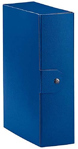 Esselte cartella a scatola per l'archiviazione di documenti a lungo termine, a4, dorso 10 cm, blu, eurobox, 390330050, cartone riciclato