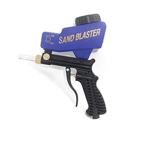Sprayfarben Tragbare Gravity Sandblasting Druckluftpistole Sandblasting Rust Reinigungsgerät Kleine Sandstrahlmaschine