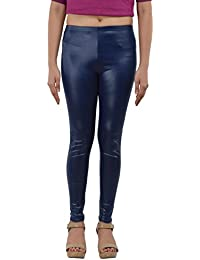 Women PartyWear PU Coated Leather Legging / Faux Leather Blue Jegging