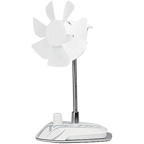 ARCTIC Breeze (Blanco) - Ventilador de escritorio USB con velocidad regulable y cuello flexible