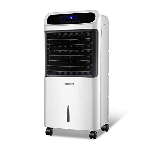 Verdunstungskühler Refroidisseur Mobile Blanc avec télécommande, climatiseur Silencieux, réservoir d'eau Transparent réglable à 3 Niveaux et Affichage numérique LED
