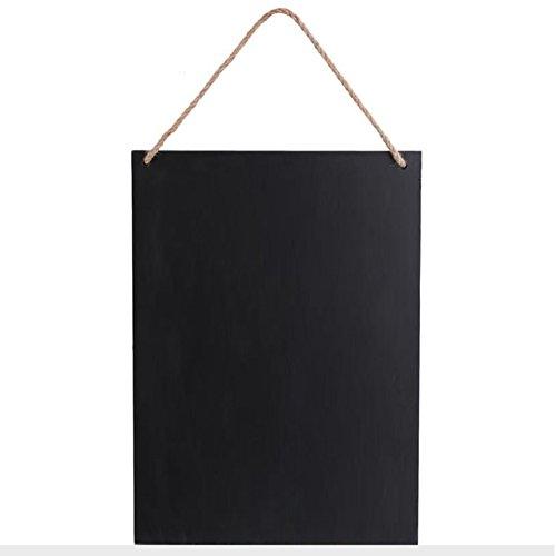 Memo-Brett für den täglichen Leben, rahmenlos, doppelseitig, Tafel, zum Aufhängen, Hochzeit, Vintage-Tafel, Heimdekoration, Schwarz