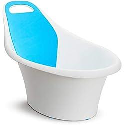 Munchkin - Sit and Soak, Baignoire Ergonomique Bébé, blanc/bleu