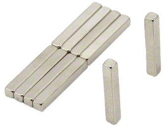 Magnet Expert® 3 x 3 x 20mm N42 néodyme aimant, 0,49kg force d'adhérence, pack de 10